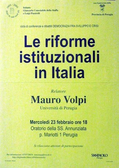 Le riforme istituzionali in Italia