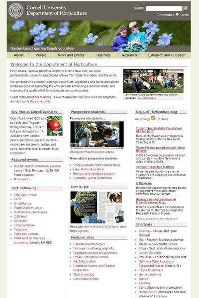 Cornell University: Department of Horticulture