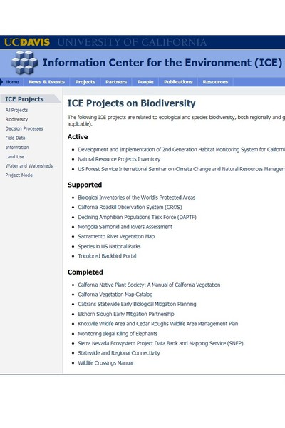 Information Center for the Environment : biodiversity