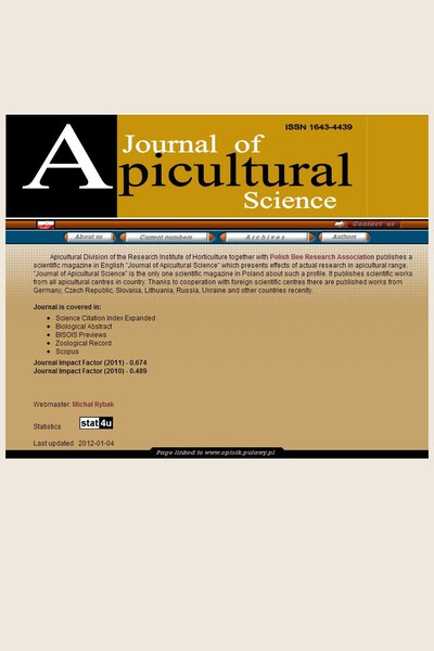 Journal of Apicultural Science