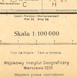 Mapa taktyczna Polski : pas 33, słup 28 : Sztum (Stuhm)