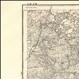 Mapa taktyczna Polski : pas 43 : słup 40 : Powórsk-Trojanówka