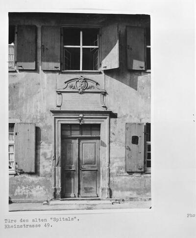 Fotografie | Liestal, Rheinstrasse 49, Eingang