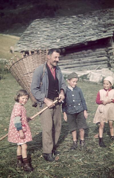 Fotografie | Bergbauer und Kinder