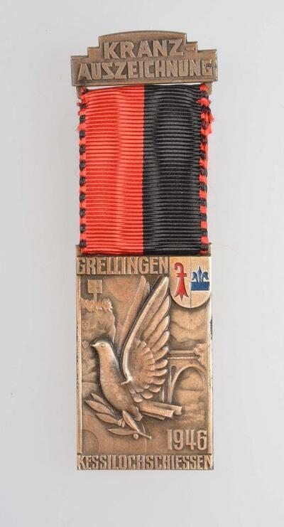 Schützenmedaille Kessilochschiessen Grellingen 1946