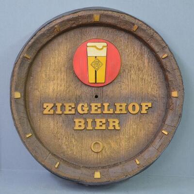 """Wandschmuck Plastikfass """"Ziegelhof Bier"""""""