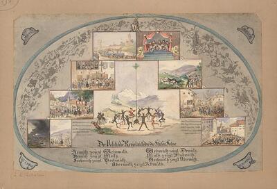 Malerei   Der Politische Kreislauf oder die Stufen=Folge (Basel-Landschaft)