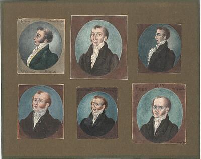 Malerei   Basler Staatsmänner der 1830er Jahre