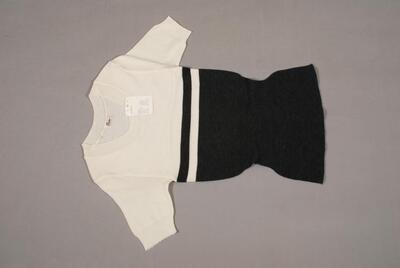 Pullover (Unterziehpullover), grau und weiss, für Damen