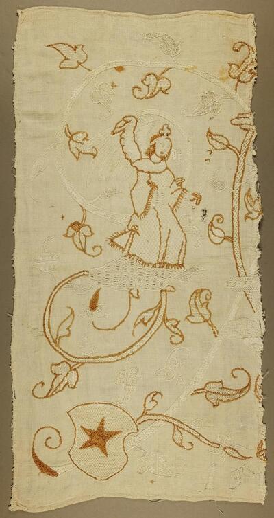 Leinenstickerei, 16.Jh., Fragment