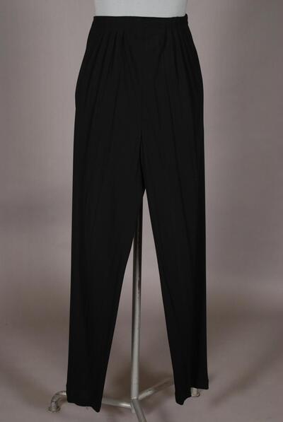 Schlichte Hose, weichfallend, schwarz, für Damen
