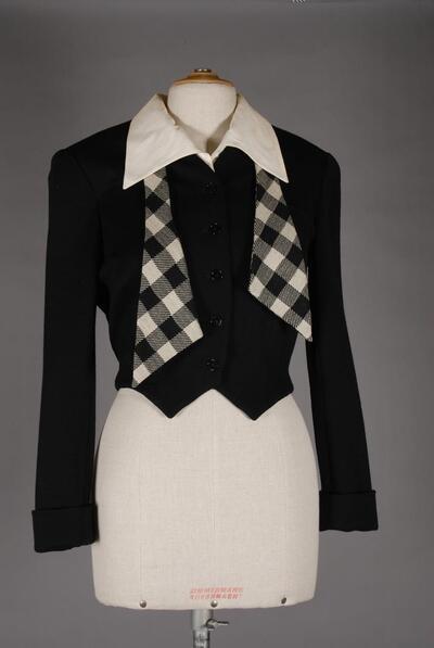 Kurze Jacke, schwarz, für Damen