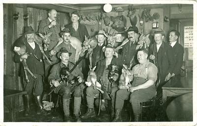 Fotografie | Jagdgesellschaft Gelterkinden im Herbst 1935