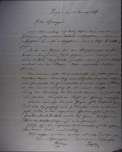 Brief 15.01.1877 - von Anton Kleiber