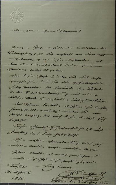 Brief 10.04.1856 - von J. Burckhardt