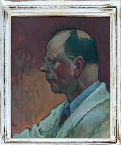 Bild - Selbstbildnis   Mann - Porträt; Selbstbildnis Otto Plattner