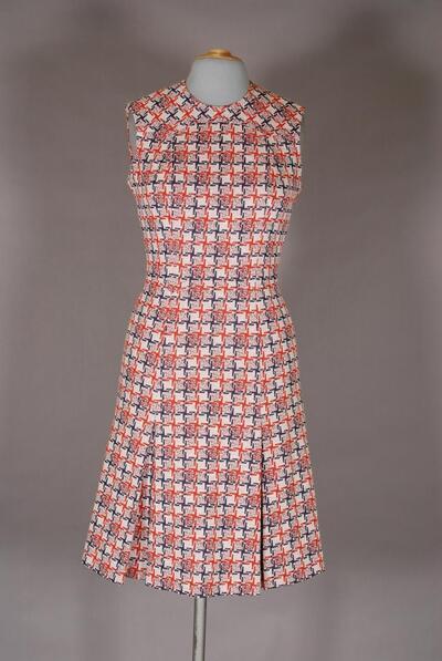 Gemustertes Kleid mit Taillennaht, für Damen