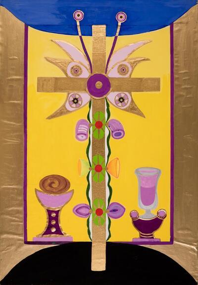 Auferstehend (Therapiebild 37)   Auferstehend