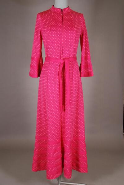 Rosa Hauskleid mit Tulpenärmeln, für Damen