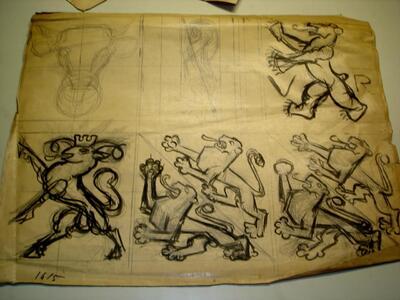 Bild: Tuschezeichnung | Wappen - Kantone TG, SH, AR, UR