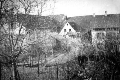 um 1950 Der Engel-Saal vor dem Abbruch