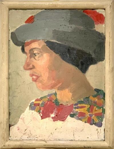 Bild: Ölmalerei | Frau - Porträt, Frida Plattner