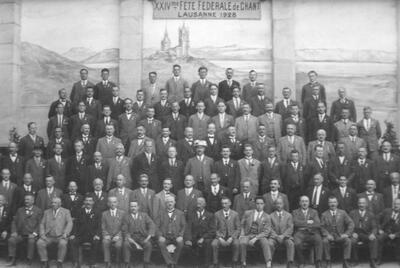 1928: Männerchor am Eidg. Gesangfest in Lausanne