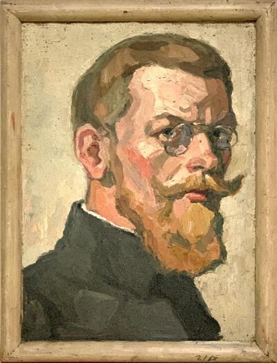 Bild: Ölmalerei | Mann - Porträt, Selbstbildnis