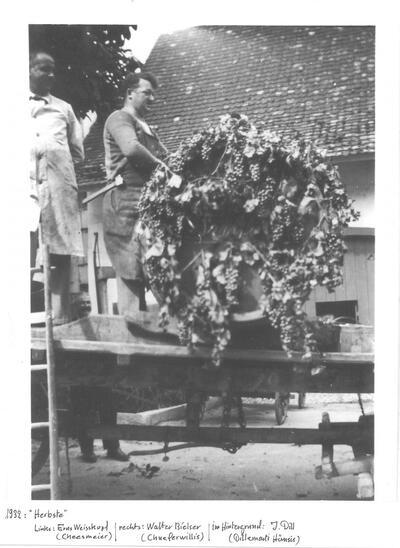 Herbste, E. Weisskopf, W. Bielser, J. Dill