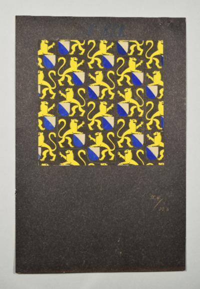 Papierentwurf für Wappenstoff; Design Paul Hosch