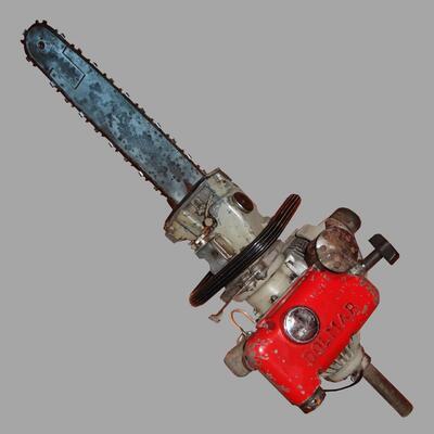 Motorsäge mit Revolver (1 Mann) zum arbeiten in jeder Lage