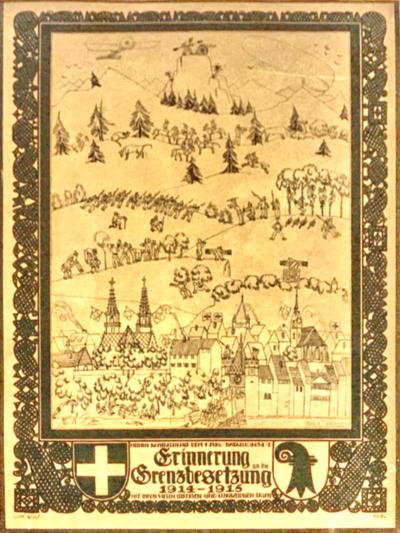 Bild   Erinnerung an die Grenzbesetzung 1914-1915