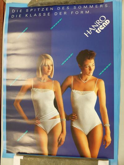 Plakat, Damenunterwäsche
