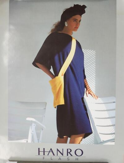 Plakat, Damenoberbekleidung (Design Azzedine Alaia)