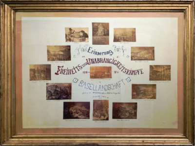 Bild   Zur fünfzigsten Jubiläumsfeier des Kantons Basellandschaft 1883