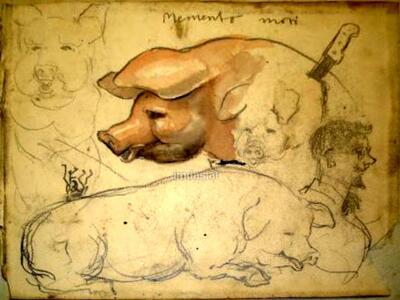 Bild: Aquarell, Bleistift | Natur - Memento mori