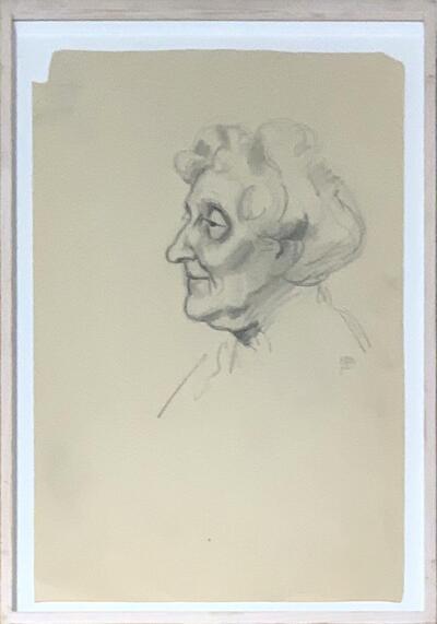 Bild: Bleistiftzeichnung | Frauenporträt