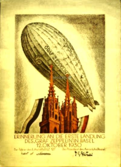 Bild: Druck   Diverses - Zeppelin in Basel
