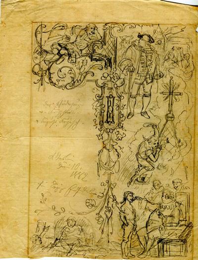 Entwürfe, Druckvorlagen, Der Schneiderjunge von Krippstedt