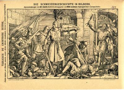 Drucke, Eroberung der Uznaburg (Uznaberg)