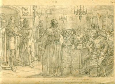 Entwürfe, Druckvorlagen, Rudolf von Habsburg in Wil