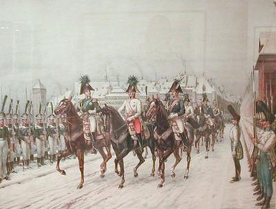 Malerei, Einzug der verbündeten Monarchen 1814