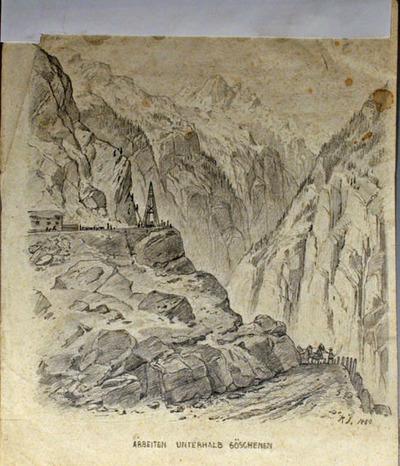 Zeichnung, St. Gotthard