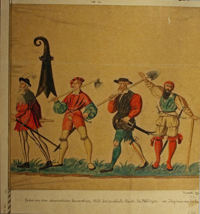 Zeichnung, Sogenannte Bauernkriegsfahne