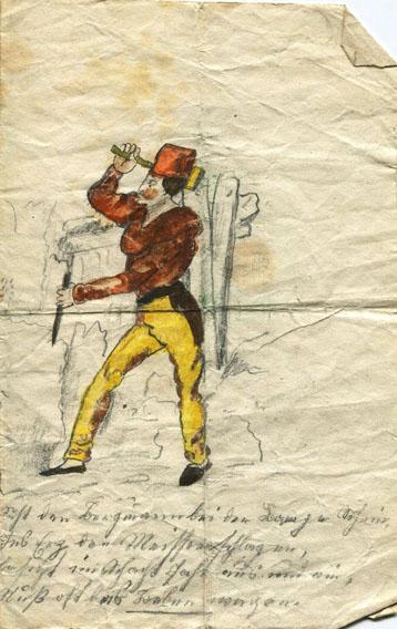 Zeichnung, Der Bergmann