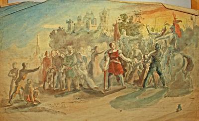 Malerei, Historische Szene