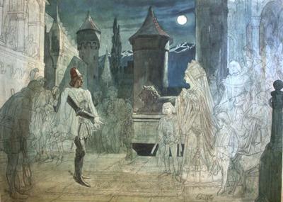 Malerei, Karl des Kühnen Ankunft in Gex
