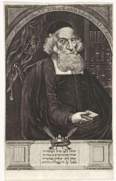 Portret van Isaac Aboab da Fonseca