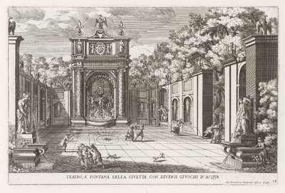 Fontein van de Uil in de tuinen van de Villa d'Este te Tivoli