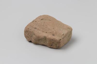 Deel van een baksteen uit het wrak van de Oost-Indiëvaarder 't Vliegend Hart